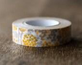 Japanese Designer Washi Masking Tape -Little Garden- Yellow x Beige Single