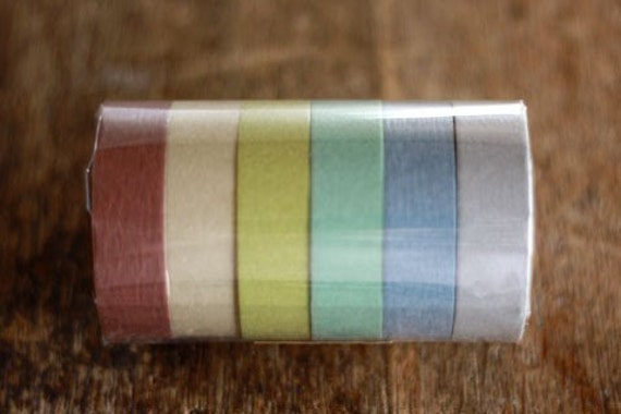 Japanese Washi Masking Tape 6 Colour Pack -Chic Japanese Colours