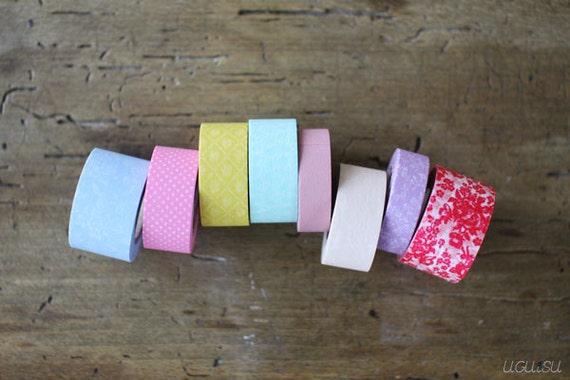 Washi Tape kids mini 8 Roll Set Summery Colours