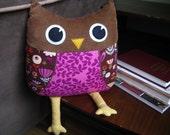 Big Owl Pillow pattern PDF