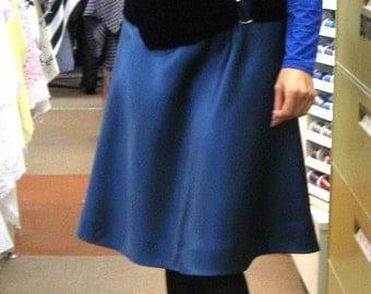 CUSTOM Bias cut skirt with stretch velvet belt