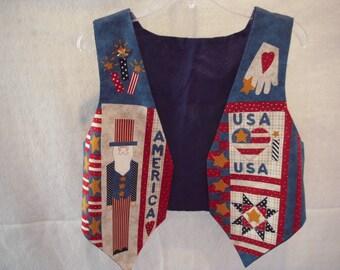 Child's Patriotic Vest