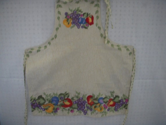 Ivy and Fruit Apron