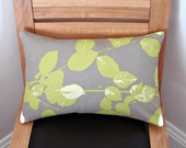 Decorative fall pillow leaves brown green tree Cushion covers cases shams UK designer fabric 12 x 18 inch handmade