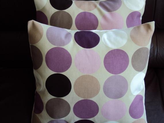 Throw Pillows Purple Mauve Plum Grape Brown Cream Spot By