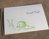 Snail Mail Gocco Card