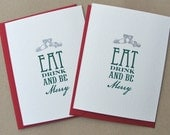 Eat Drink and be Merry Christmas Gocco Card