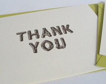 Thank You Gocco card