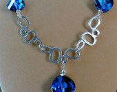 Bermuda Blue Twist Necklace