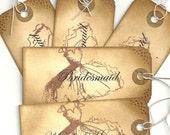 Maid of honor and bridesmaids gift tag Set of 6
