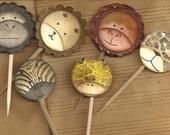 Safari Baby Cupcake toppers Set of 12
