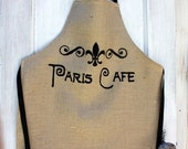 Paris Cafe Apron french,shabby chic style