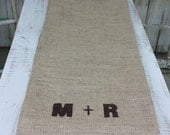 Table runner personalized with your initials