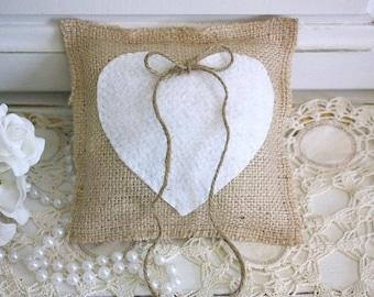 Ring Pillow,burlap