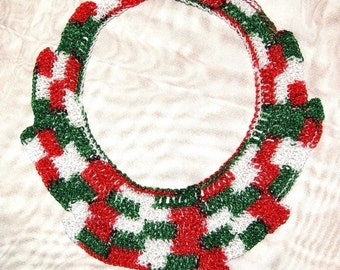 Hand Crochet Beautiful Egyptian Bib necklace / Cleopatra Collar for Christmas / Cleopatra Necklace Choker, On Sale now