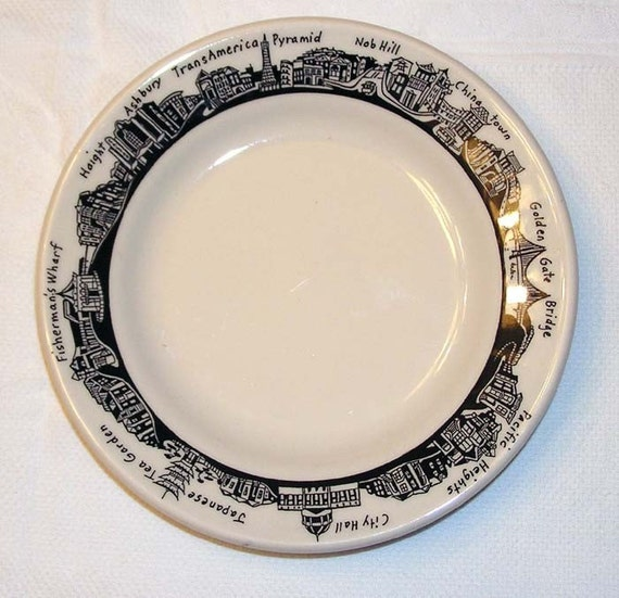 San francisco vintage plate fishs eddy haight by for Fishs eddy dinnerware