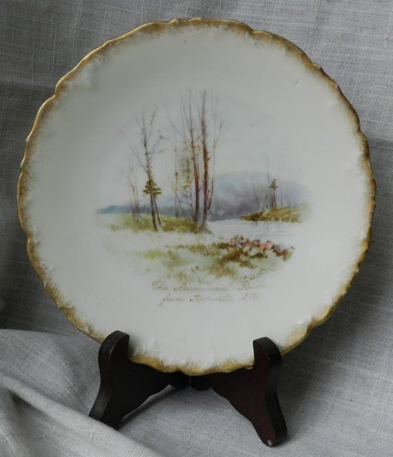 RARE 1907 Limoges T&V handpainted RIVER plate...SALE was 58