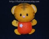 Tator the Tiger - Stuffed Felt Animal Keychain/Magnet/Ornament (Orange)