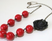 Blood and Roses Necklace - lucite, acrylic and brass