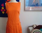 Vintage Orange Sorbet Scooter Dress - XS/S