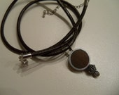just for him necklace wood metal leather