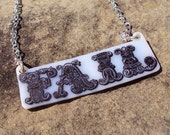 FAIL / WIN Double Sided Word Necklace