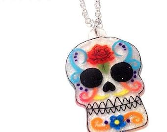Mexican Sugar Skull Necklace