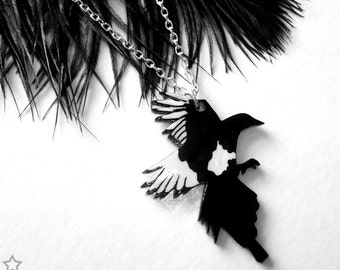 Magpie necklace - Good Morning Mister Magpie - Lucky Charm, Good Luck...