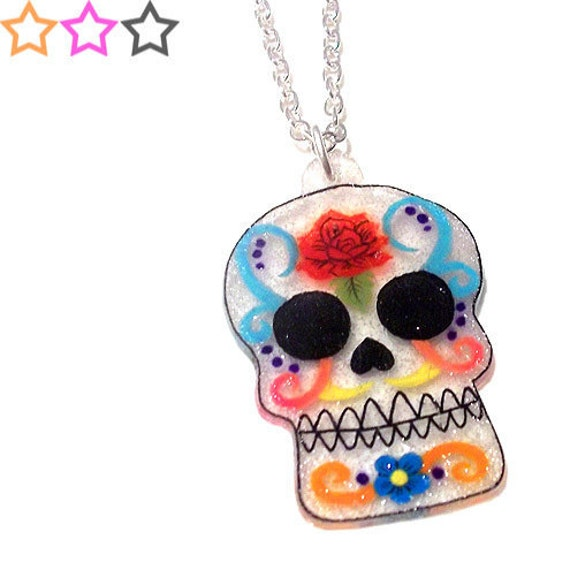 Mexican Sugar Skull Necklace