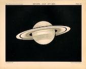 1910 saturn planet original antique celestial astronomy print