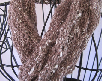 Cafe' au Lait Merino Wool with Alpaca and Silk Scarf