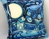 FULL MOON FISH Oceanica Patchwork Pillow Cover
