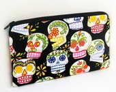 Items similar to Long Zipper Pencil Pouch Mexican Sugar ...
