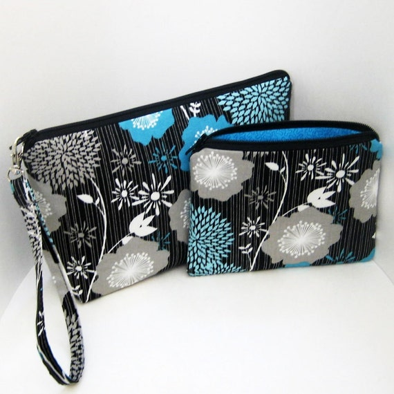 Cosmetic Zipper Pouch Set             WISHING FLOWER