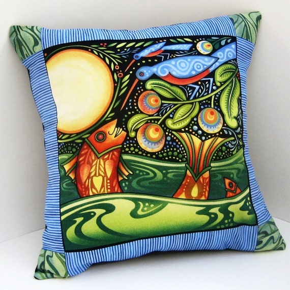 Patchwork Pillow Cover FULL MOON FISH