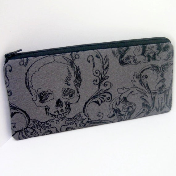 Long Pencil Pouch COOL SKULLS