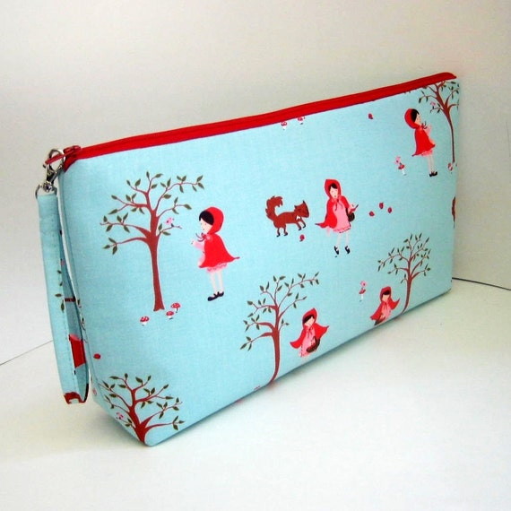 Project Bag RED RIDING HOOD Large Zipper Pouch
