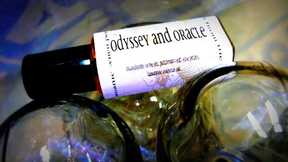 odyssey and oracle perfume oil.  a patchouli based delight. organic when possible. always from the earth