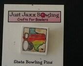 Texas State Bowling Pin- RAINBOW