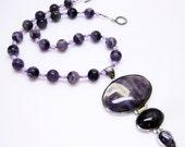 Purple Necklace - Amethyst - Amethyst Pendant Necklace