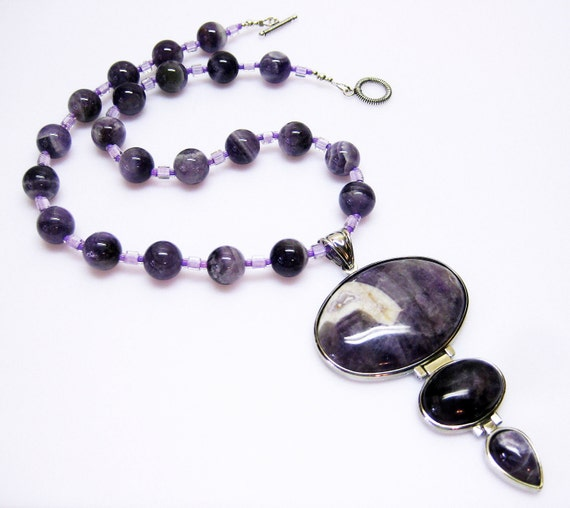 Purple Necklace - Amethyst - Amethyst Pendant Necklace