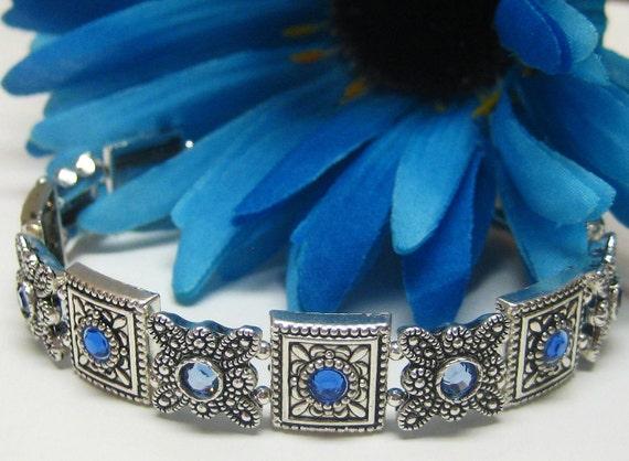 Blue Sapphire Cuff Bracelet