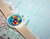 Vintage 1980s Coca-Cola Sailboat Swatch Watch