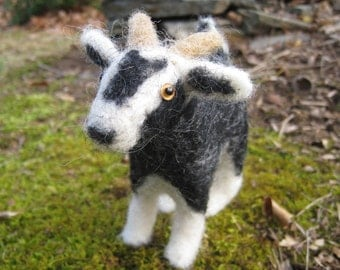 Billy the Goat, needlefelted animal art sculpture