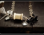 The Sexy Seamstress. Upcycled Vintage Trinkets OOAk Necklace