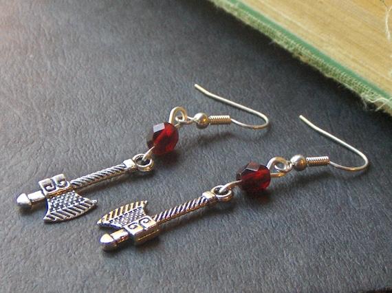 The Norsemen . Miniature Viking Axe Earrings