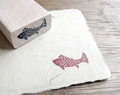 Koi Fish Rubber Stamp Fish Stamp Craft rubber stamps ( Small )
