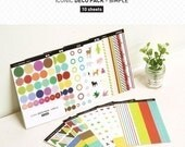 Adorable Deco Pack SIMPLE Pattern Diary Journal stickers - 10 sheets