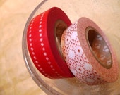 RED Pattern Japanese Washi Tapes Set of 2 rolls 15mm MT masking tape for Gift Wrapping from PrettyTape
