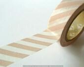 PEACH PINK Stripe Washi Tape Japanese 15mm MT Tape for weddings scrapbooking